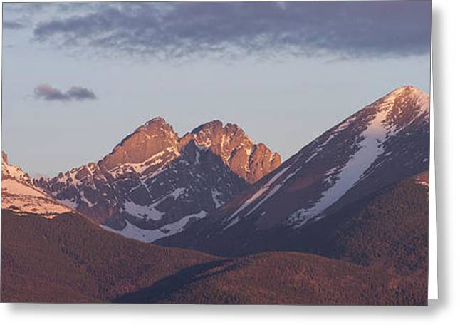 Large Scale Greeting Cards - 14er Panorama 3 Greeting Card by Aaron Spong