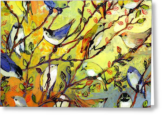 Jennifer Lommers Greeting Cards - 16 Birds Greeting Card by Jennifer Lommers