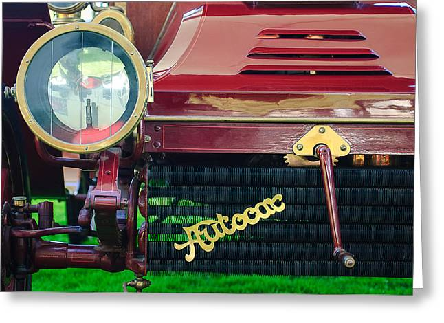 Runabout Greeting Cards - 1906 Autocar Type 10 Runabout Grille Emblem Greeting Card by Jill Reger