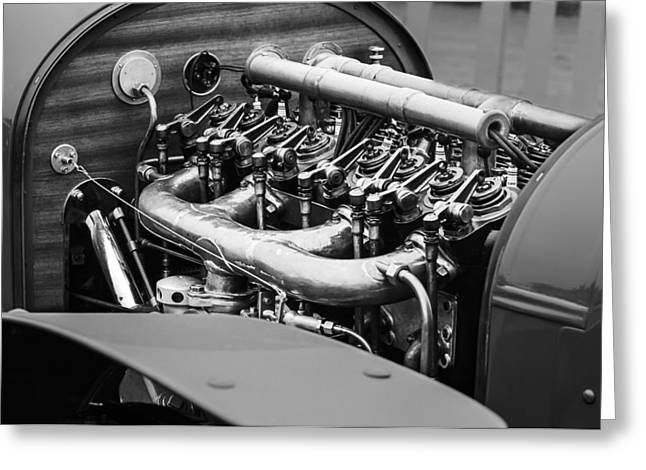2013 Greeting Cards - 1910 Benz 22-80 Prinz Heinrich Renn Wagen Engine Greeting Card by Jill Reger