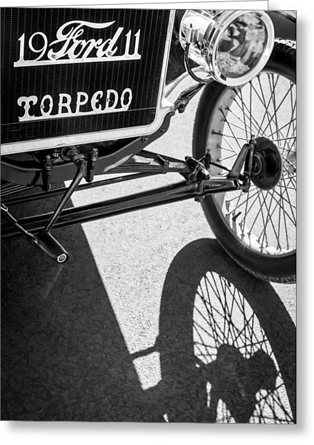 Ford Model T Car Greeting Cards - 1911 Ford Model T Torpedo Grille Emblem Greeting Card by Jill Reger