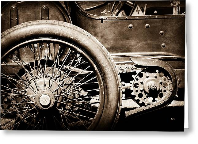 1913 Greeting Cards - 1913 Isotta Fraschini Tipo IM Wheel Greeting Card by Jill Reger