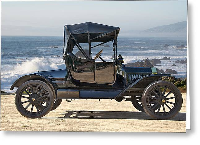 Ford Model T Car Greeting Cards - 1915 Ford Model T Roadster Greeting Card by Dave Koontz