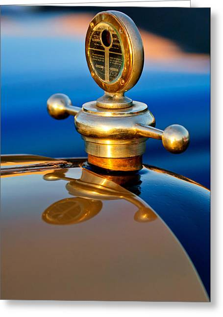 1922 Studebaker Touring Hood Ornament 3 Greeting Card by Jill Reger