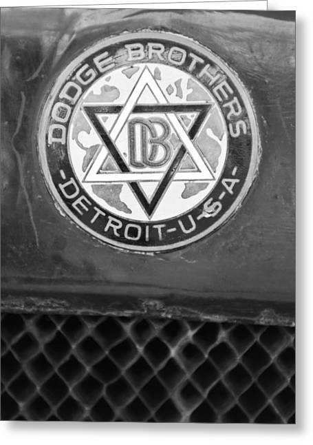 Depot Greeting Cards - 1923 Dodge Brothers Depot Hack Emblem Greeting Card by Jill Reger