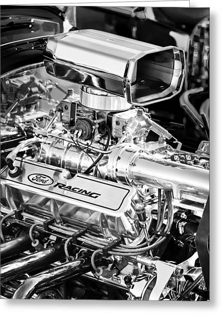 Ford Engine Greeting Cards - 1927 Ford T-Bucket Engine Greeting Card by Jill Reger
