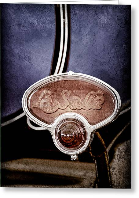 Lasalle Greeting Cards - 1929 La Salle Brake Light Emblem Greeting Card by Jill Reger