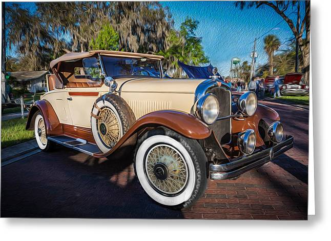 Rumble Greeting Cards - 1929 REO Flying Cloud Convertible Painted  Greeting Card by Rich Franco