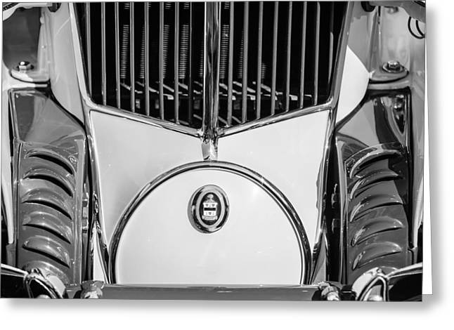 1930 Greeting Cards - 1930 Cord L-29 Speedster Grille Emblem Greeting Card by Jill Reger