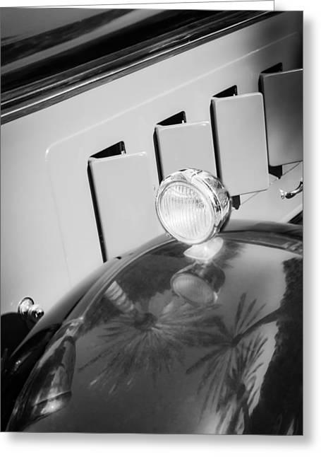 1930 Greeting Cards - 1930 Packard Fender Light Greeting Card by Jill Reger