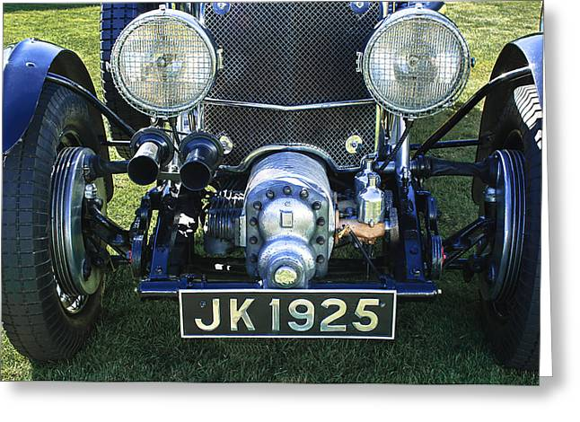 Supercharged Greeting Cards - 1931 Bentley 4.5 Liter Supercharged Le Mans Grille Greeting Card by Jill Reger