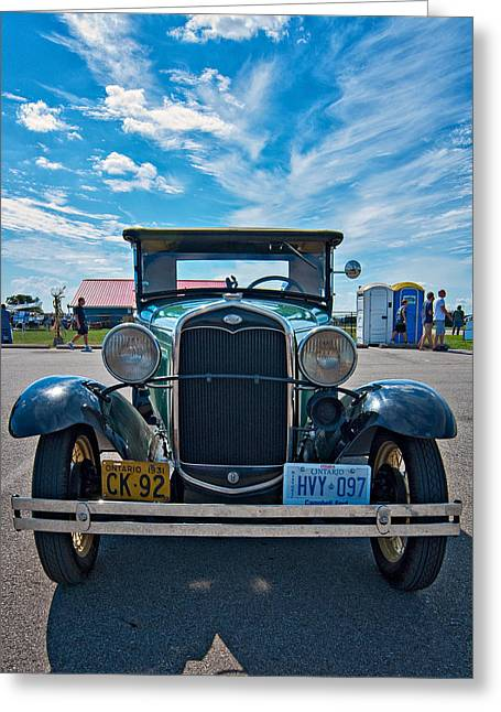 Ford Model T Car Greeting Cards - 1931 Model T Ford Greeting Card by Steve Harrington