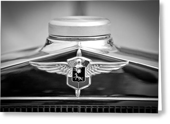 Lasalle Greeting Cards - 1932 Cadillac LaSalle Grille Emblem Greeting Card by Jill Reger