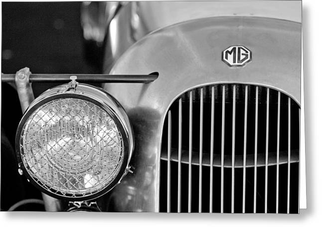 Pa Greeting Cards - 1934 MG PA Midget Supercharged Special Speedster Grille Greeting Card by Jill Reger
