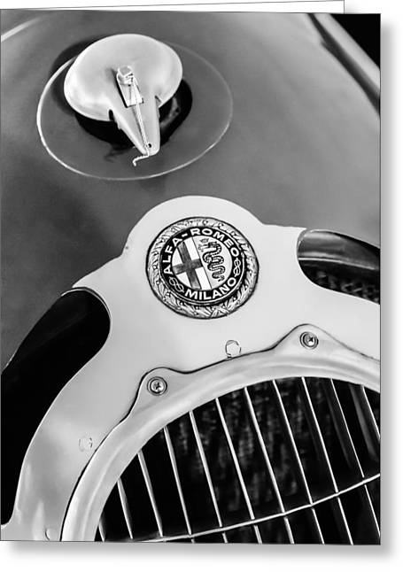 35 Greeting Cards - 1935 Alfa Romeo 8C-35 Grille Emblem Greeting Card by Jill Reger