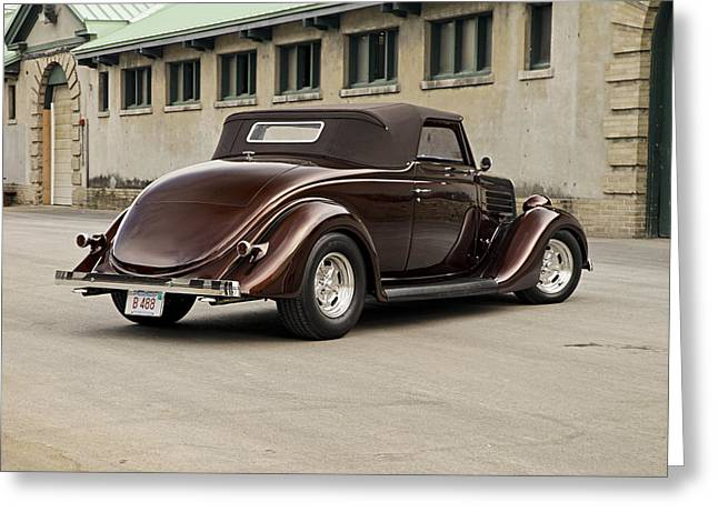 Hot Rodder Greeting Cards - 1935 Ford Cabriolet Greeting Card by Gianfranco Weiss