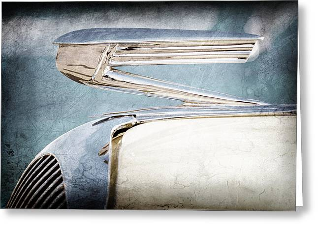 1936 Buick 40 Series Hood Ornament Greeting Card by Jill Reger