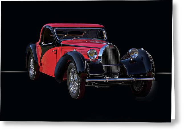 Injection Greeting Cards - 1937 Bugatti Type 57 Atalante Coupe Greeting Card by Dave Koontz