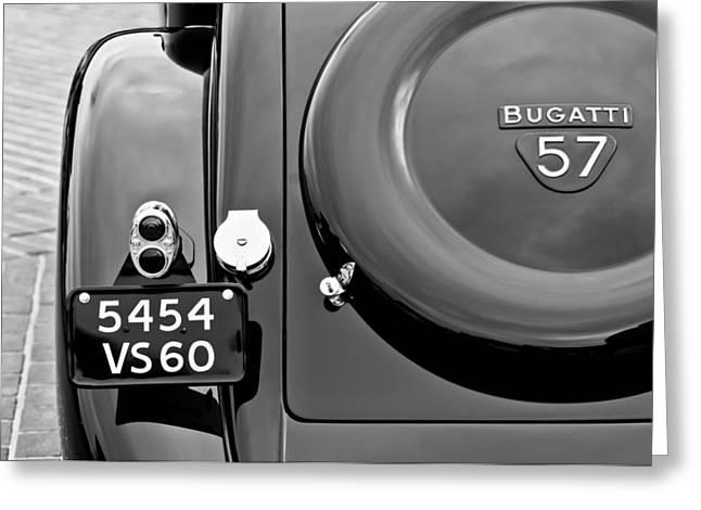 Bugatti Vintage Car Greeting Cards - 1937 Bugatti Type 57C Ventoux Greeting Card by Jill Reger
