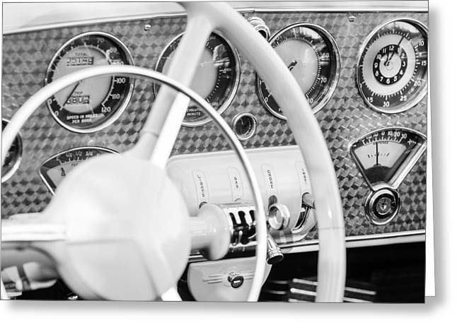 Cord Greeting Cards - 1937 Cord 812 Phaeton Dashboard Instruments Greeting Card by Jill Reger