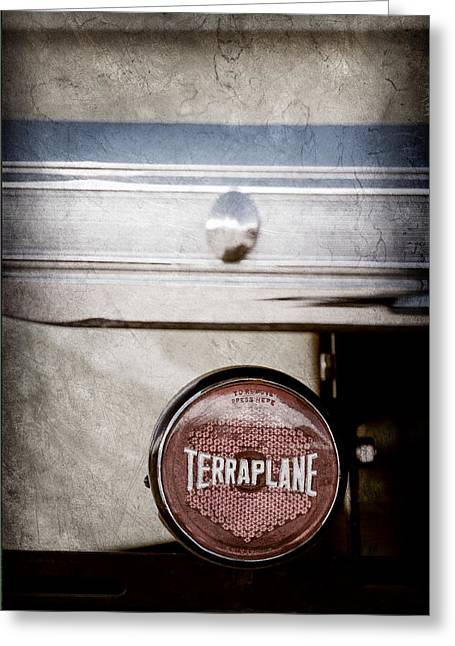 Classic Pickup Greeting Cards - 1937 Hudson Terraplane Pickup Truck Taillight Emblem Greeting Card by Jill Reger