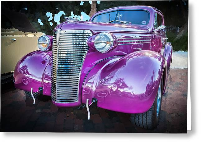 Rumble Greeting Cards - 1938 Chevrolet Coupe with Rumble Seat  Greeting Card by Rich Franco