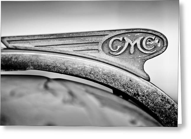 1938 GMC Hood Ornament Greeting Card by Jill Reger