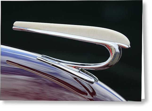 Willys Greeting Cards - 1938 Willys Aftermarket Hood Ornament Greeting Card by Jill Reger