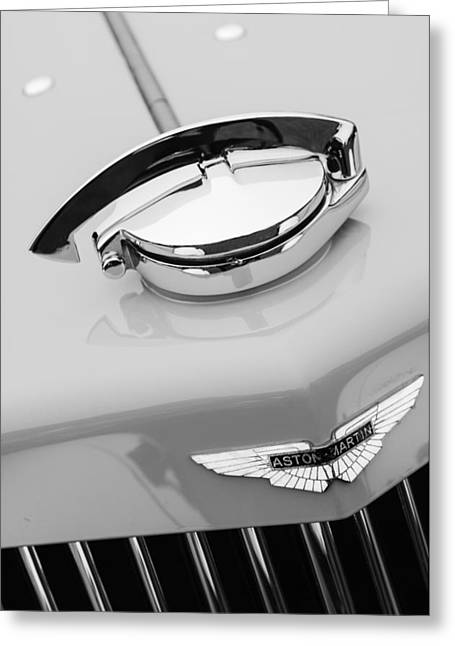 15 Greeting Cards - 1939 Aston Martin 15-98 Abbey Coachworks SWB Sports Grille Emblem Greeting Card by Jill Reger
