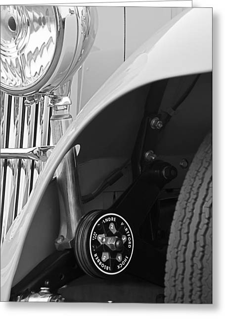 D.w Greeting Cards - 1939 Aston Martin 15-98 Abbey Coachworks SWB Sports Suspension Control Greeting Card by Jill Reger