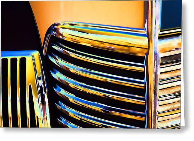 1939 Studebaker Champion Grille Greeting Card by Carol Leigh