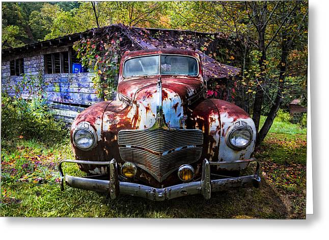 Tennessee Barn Greeting Cards - 1940 Dodge Greeting Card by Debra and Dave Vanderlaan