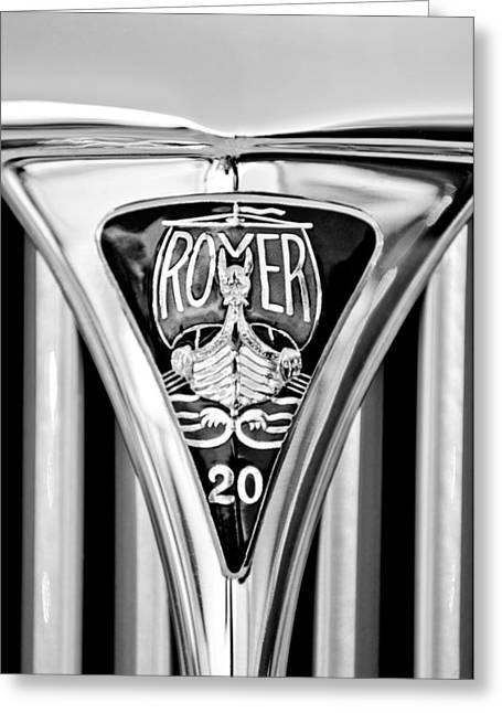 Rover Greeting Cards - 1940 Rover Twenty Emblem Greeting Card by Jill Reger