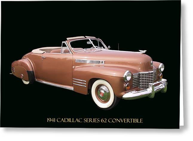 Replace Greeting Cards - 1941 Cadillac Series 62 Convertible Greeting Card by Jack Pumphrey