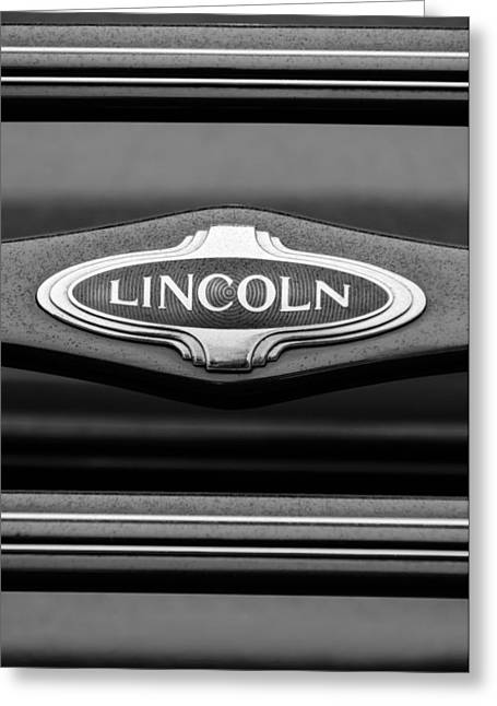 D.w Greeting Cards - 1941 Lincoln Emblem Greeting Card by Jill Reger