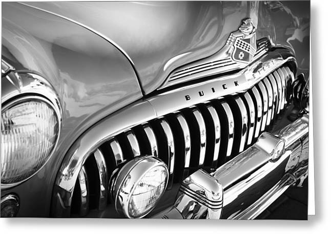 Car 47 Greeting Cards - 1947 Buick Eight Super Grille Emblem Greeting Card by Jill Reger