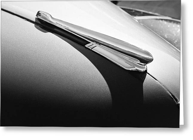 1947 Greeting Cards - 1947 Chevrolet Fleetmaster Hood Ornament Greeting Card by Jill Reger