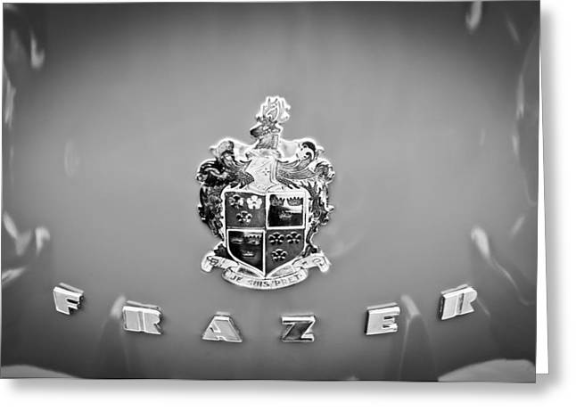 1947 Greeting Cards - 1947 Kaiser-Frazer Emblem Greeting Card by Jill Reger