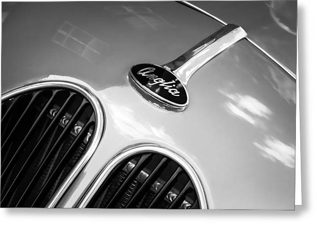 1948 Anglia Grille Emblem -510c Greeting Card by Jill Reger