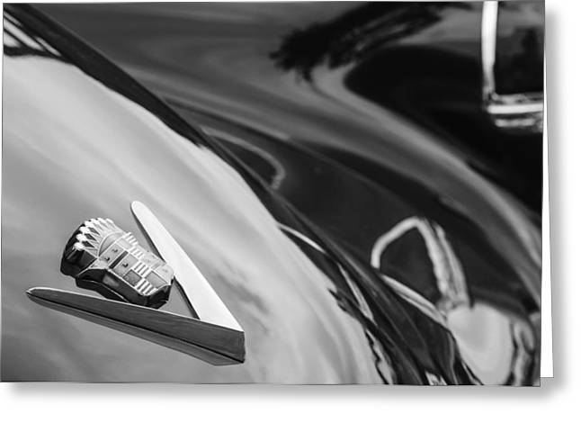 1949 Cadillac Fastback Taillight Emblem Greeting Card by Jill Reger