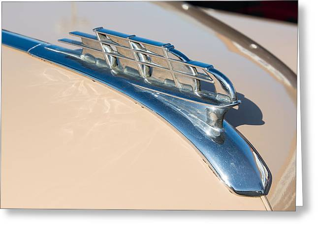 1949 Plymouth Greeting Cards - 1949 Plymouth Hood Ornament Greeting Card by Classic Visions