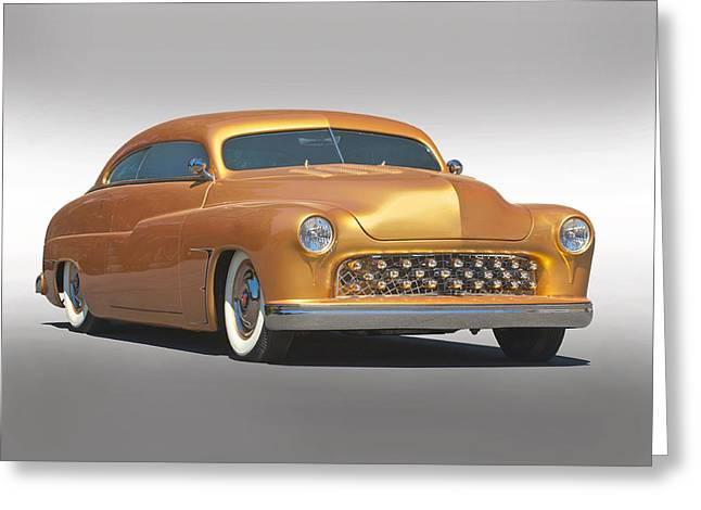 Slam Photographs Greeting Cards - 1950 Mercury Custom Greeting Card by Dave Koontz