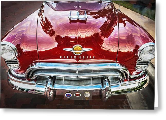 Bodywork Greeting Cards - 1950 Oldsmobile 88 Futurmatic Coupe  Greeting Card by Rich Franco