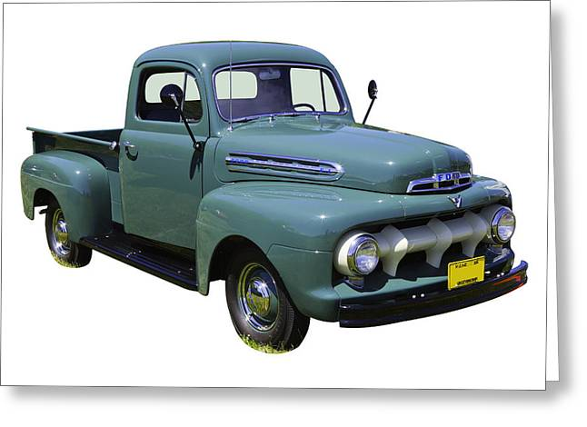 Classic Truck Greeting Cards - 1951 ford F-1 Pickup Truck Greeting Card by Keith Webber Jr