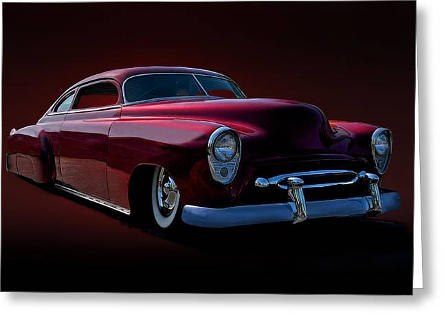 Slam Photographs Greeting Cards - 1952 Chevrolet Custom Greeting Card by Dave Koontz