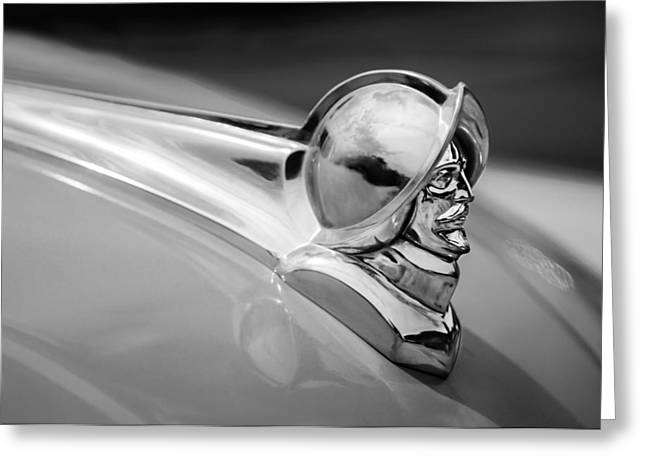 Collector Hood Ornament Greeting Cards - 1952 Desoto Hood Ornament Greeting Card by Jill Reger