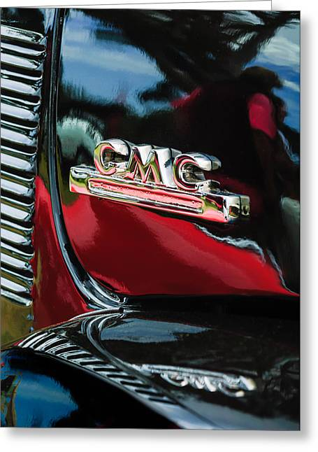 General Motors Company Greeting Cards - 1952 GMC Suburban Emblem Greeting Card by Jill Reger