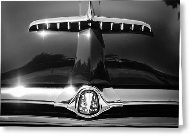 1953 Greeting Cards - 1953 Hudson Convertible Grille Emblem Greeting Card by Jill Reger