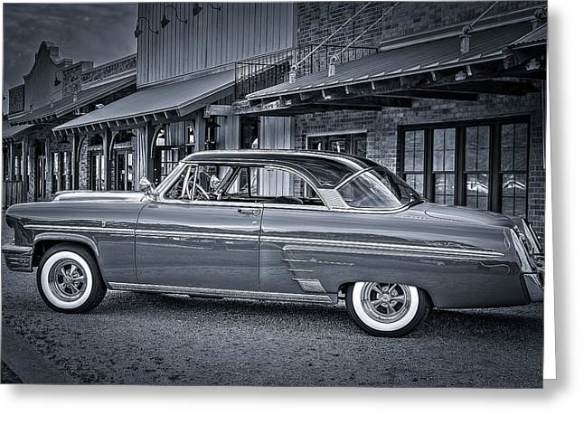 Diner Greeting Cards - 1953 Mercury Monterey en Francais Greeting Card by David Morefield