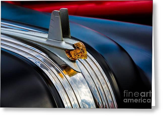 1953 Pontiac Greeting Cards - 1953 Pontiac Chieftain Hood Ornament Greeting Card by Davidmark Images